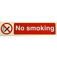 No Smoking Sign - Red/Black