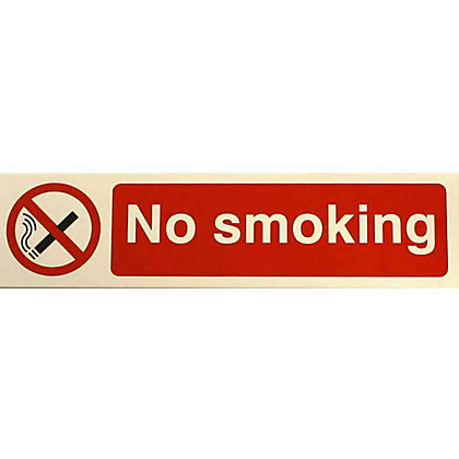 Image for No Smoking Sign - Red/Black from StoreName