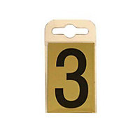 House Number Plate - Black and Gold - 3