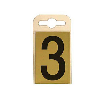 Image for House Number Plate - Black and Gold - 3 from StoreName