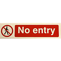 No Entry Sign - Red/Black