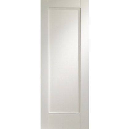 Image for 1 Panel White Primed Internal Shaker Door - 610mm Wide from StoreName