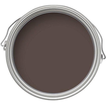 Image for Homebase Weathercoat Bitter Chocolate - Smooth Matt Masonry Paint - 225ml from StoreName