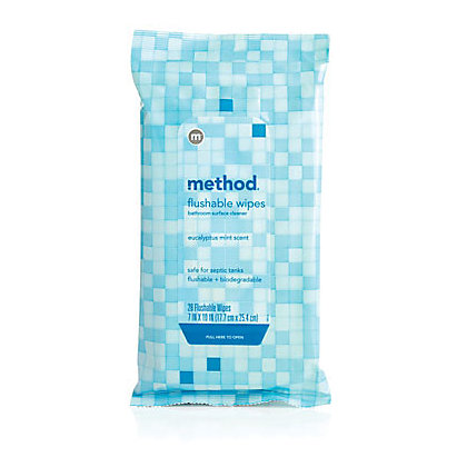 Image for Method Bathroom Flushable Wipes - 28 Pack from StoreName
