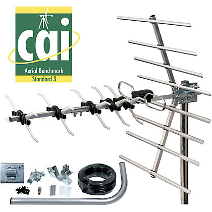 Image for Homebase - 32 Element Digital Aerial With Fixing Kit from StoreName