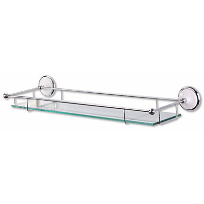 Image for Marseille Bathroom Shelf - Sliver and White from StoreName