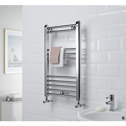 Image for Allegra Heated Towel Rail - Chrome 650 x 400mm from StoreName