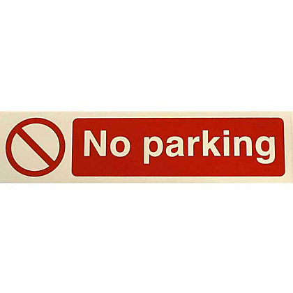 Image for No Parking Sign - Red/White from StoreName