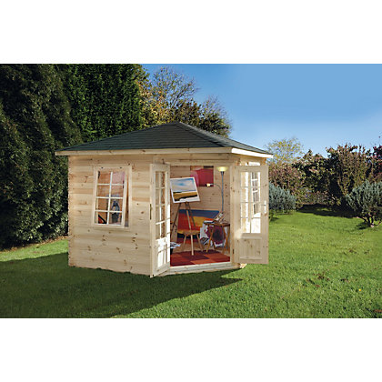 Image for Forest Wenlock Log Cabin - 9ft 8in x 9ft 8in from StoreName