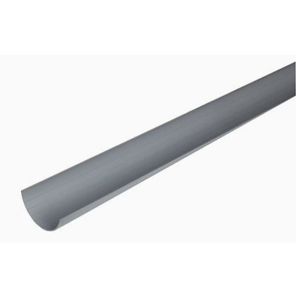 Image for 76mm Half Round Gutter - Grey - 76 x 34 x 2000mm from StoreName
