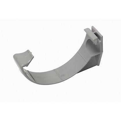 Image for 76mm Half Round Support Bracket - Grey - 86 x 20 x 45mm from StoreName