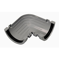76mm Half Round 90 Degree Gutter Angle - Grey - 50 x 135 x 135mm