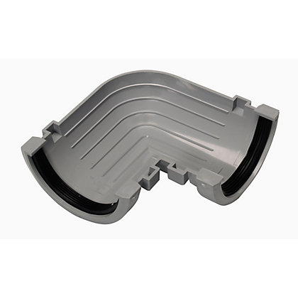 Image for 76mm Half Round 90 Degree Gutter Angle - Grey - 50 x 135 x 135mm from StoreName