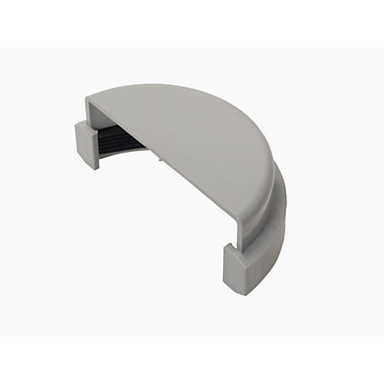 Image for 76mm Half Round External Stopend - Grey - 45 x 90 x 35mm from StoreName