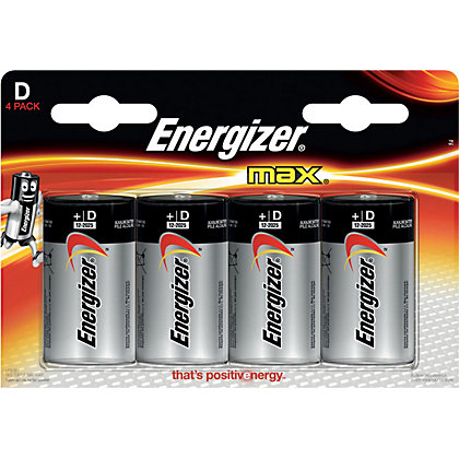 Image for Energizer Max D Batteries - 4 Pack from StoreName