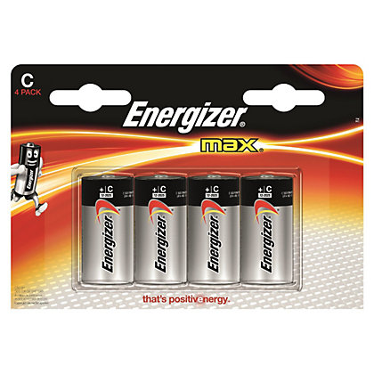 Image for Energizer Max Alkaline Batteries - C - 4 Pack from StoreName