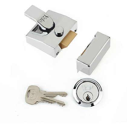 Image for Yale 85 Deadlocking Nightlatch 40mm - Chrome from StoreName