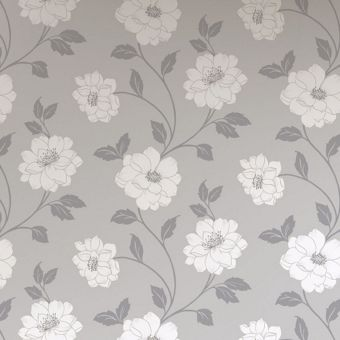 Camilla wallpaper silver for Wallpaper homebase