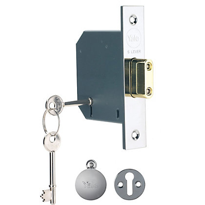 Image for Yale PM552 5 Lever Deadlock 64mm - Chrome from StoreName