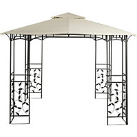 Lucca Square Metal Gazebo - Home Delivery