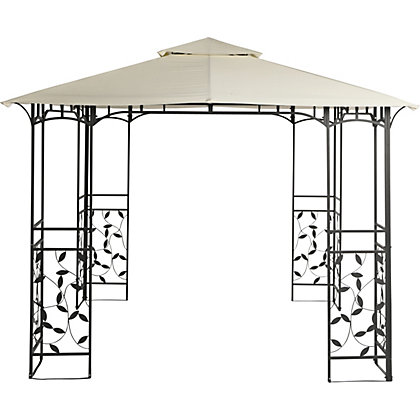 Image for Lucca Square Metal Gazebo - Home Delivery from StoreName