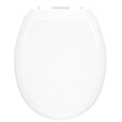 Image for White Duroplastic Soft Close Toilet Seat from StoreName