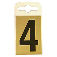 House Number Plate - Black and Gold - 4