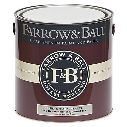 Image for Farrow and Ball Wood Floor Primer Undercoat - Red & Warm Tones - 2.5L from StoreName