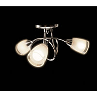 Milan Satin Nickel Ceiling Light