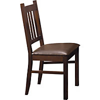 Hygena Cucina Dining Chairs - Walnut - Pack of 2