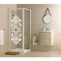 Aqualux Crystal Pivot Enclosure White Damask- 760 x 760mm