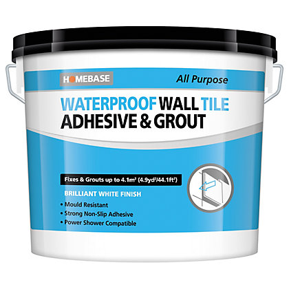 Image for Homebase Waterproof Wall Tile Adhesive & Grout Large - 6.9kg from StoreName