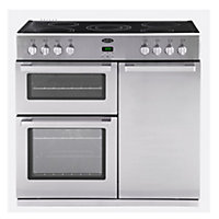 Belling DB4 90E Professional Electric Range Cooker - Stainless steel.