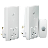 Byron Db333 Wireless Twin Plug-Thru Chime Kit