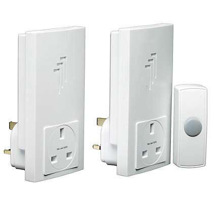 Image for Byron Db333 Wireless Twin Plug-Thru Chime Kit from StoreName