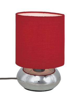 Homebase - Saalbach Touch Table Lamp - Red - 23cm customer reviews - product reviews - read top ...