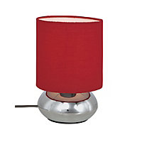 Saalbach Touch Table Lamp - Red - 23cm