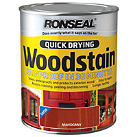 Ronseal Quick Drying Woodstain Satin Mahogany - 750ml