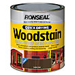 Ronseal Quick Drying Woodstain Satin Dark Oak - 750ml