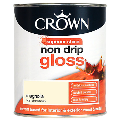 Image for Crown Magnolia - Non Drip Gloss Paint - 750ml from StoreName