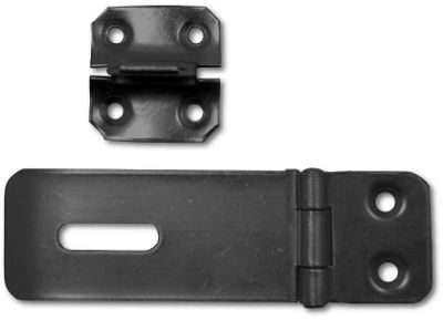 Safety Hasp and Staple Black - 76mm
