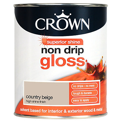 Image for Crown Country Beige - Non Drip Gloss Paint - 750ml from StoreName