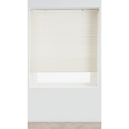 Image for Home of Style Cream Aluminium 25mm Venetian Blind - 120cm from StoreName