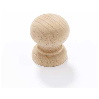 Image for Round Cabinet Door Knob - Beech - 34mm from StoreName