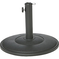 Round Cement Parasol Base in Black - 9kg