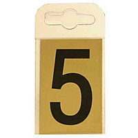 House Number Plate - Black and Gold - 5