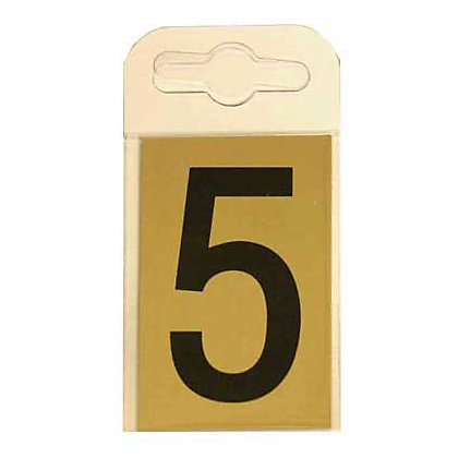 Image for House Number Plate - Black and Gold - 5 from StoreName