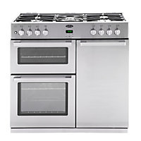 Belling DB4 90DFT Professional Range Cooker - Stainless steel.