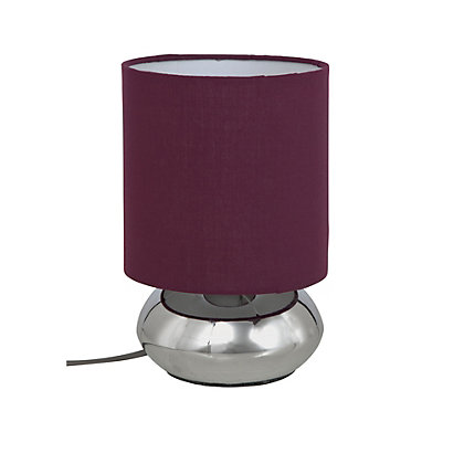 Image for Saalbach Touch Table Lamp - Aubergine - 23cm from StoreName