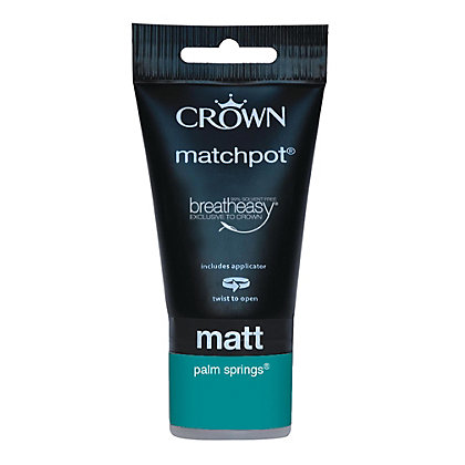 Image for Crown Feature Wall Breatheasy Palm Spring - Matt Paint - 40ml Tester from StoreName